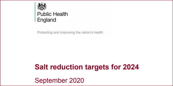 Salt reduction targets for 2024